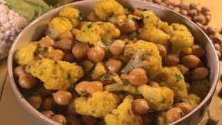 מתכון לתבשיל חומוס וכרובית הודי