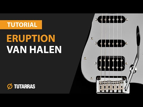 How to play ERUPTION by VAN HALEN - Electric GUITAR LESSON