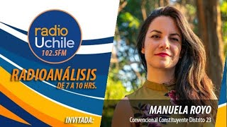 Manuela Royo se refiere a la presencia de Jorge Arancibia en la comisión de DD.HH. de la Convención