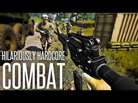 HILARIOUSLY HARDCORE COMBAT - Squad 2019 Gameplay