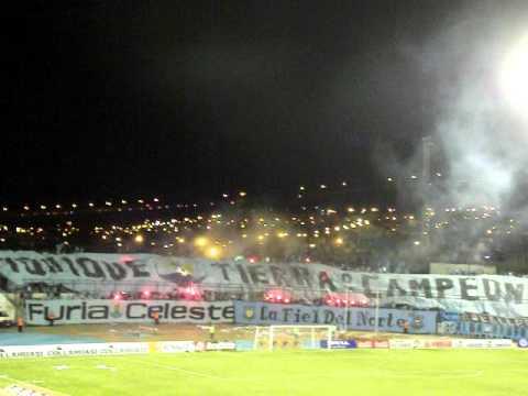 """Salida de Deportes Iquique contra las monjas"" Barra: Furia Celeste • Club: Deportes Iquique"