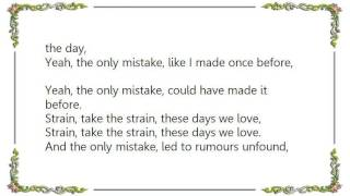 Joy Division - The Only Mistake Live Lyrics