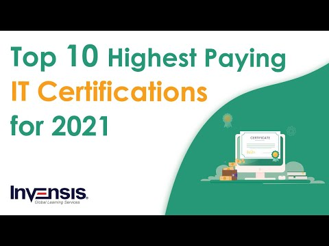 Top 10 Highest Paying IT Certifications In 2021 | Information ...