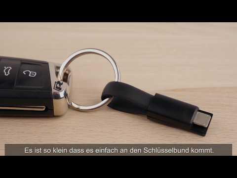 smrter Colibri 2in1 / USB Typ C Ladekabel als Schlüsselanhänger
