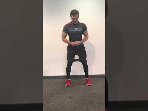 Standing Knee Banded Hip Abduction Demonstration