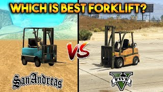 GTA 5 FORKLIFT VS GTA SAN ANDREAS FORKLIFT : WHICH IS BEST?