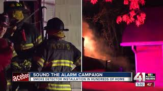 Red Cross launches 'Sound the Alarm' campaign in Kansas City to install working smoke alarms