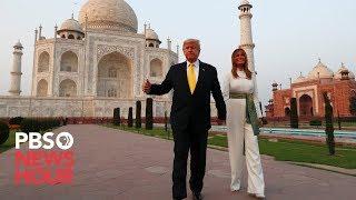 WATCH: Trump and first lady visit Taj Mahal during India visit