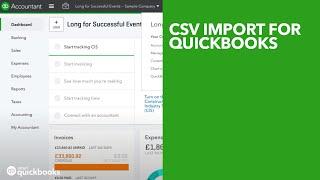 CSV import for QuickBooks