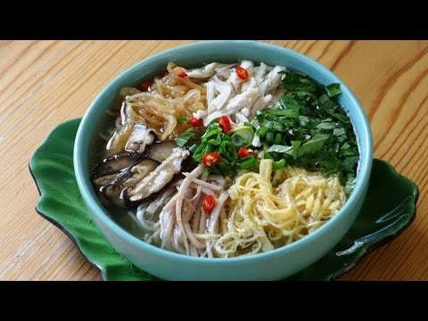 Hanoi Combo Noodle Soup Recipe (BÚN THANG)