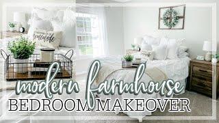 DIY MASTER BEDROOM MAKEOVER ON A BUDGET | Modern Farmhouse Bedroom Decorating Ideas | DIY Bedroom