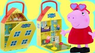 Essie Builds Pig Family House & Garden Playset