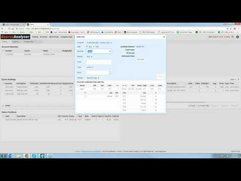 An in-depth walkthrough trading up: accounts, holdings, place, amending and cancelling trades and answering questions.