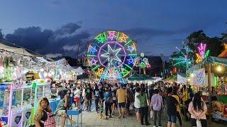 [4K] Street Food Festival And Fun Fair In Bangkok Thailand