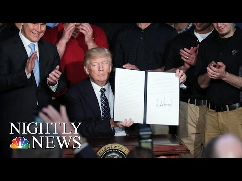 New Executive Order Takes Aim At President Barack Obama's Climate Policy | NBC Nightly News