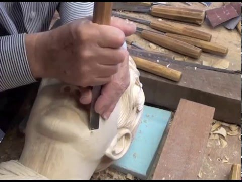 sculpture wood carving head by tttopdotcom
