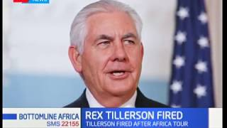 Rex Tillerson becomes the 15th person on the Trump administration to be fired