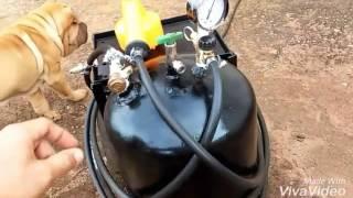 Compressor Caseiro : Suporta 130psi - DIY - Home Compressor: Supports 130psi