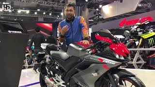 Auto Expo 2018 Yamaha R15 V3 Daytona Exhaust 22 HP - hmong video