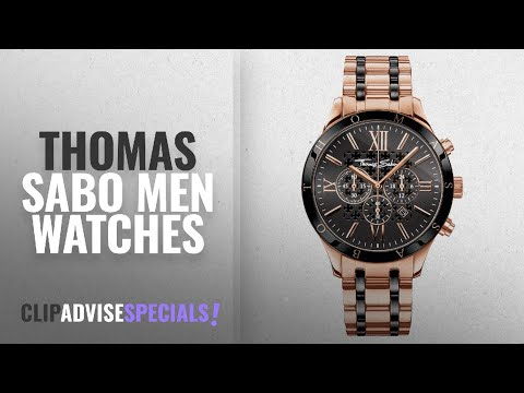 10 Best Selling Thomas Sabo Men Watches [2018 ]: Thomas Sabo Men's Watch Rebel Urban Rose Gold Black