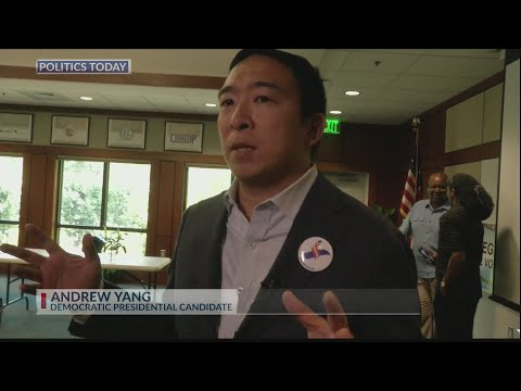 Andrew Yang stumps for votes in the Lowcountry