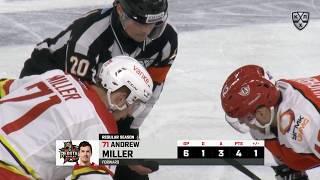 Первая шайба Миллера в КХЛ