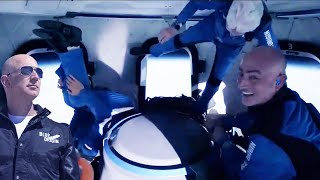This is what Jeff Bezos did while in space | Blue Origin Launch