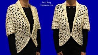 DIY Tutorial How To Crochet An Easy Shrug