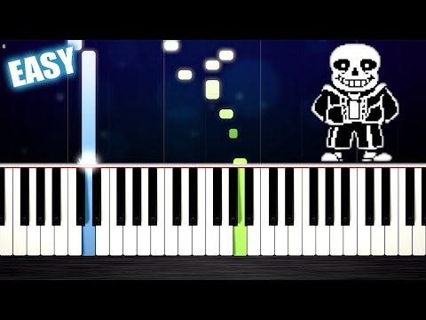 Undertale - Megalovania - EASY Piano Tutorial by PlutaX