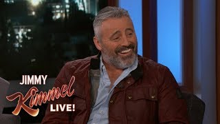 "On Jimmy Kimmel Live!, Matt admitted, ""I liked the monkey! I like animals. The monkey was really cool. Schwimmer not so much...It's just 'cause he's the one that had to work with him the most, so he'd be like, 'Again with the monkey?' But, I got along great with him. Now, the monkey in the show was named Marcel, he was a boy. But, in real life, it was a girl named Katie. One time — so, we're shooting a scene with the monkey — the monkey just...goes right to the ceiling and just disappears into the blackness of the stage. It took them half an hour to get it down, waving meal worms at it."""