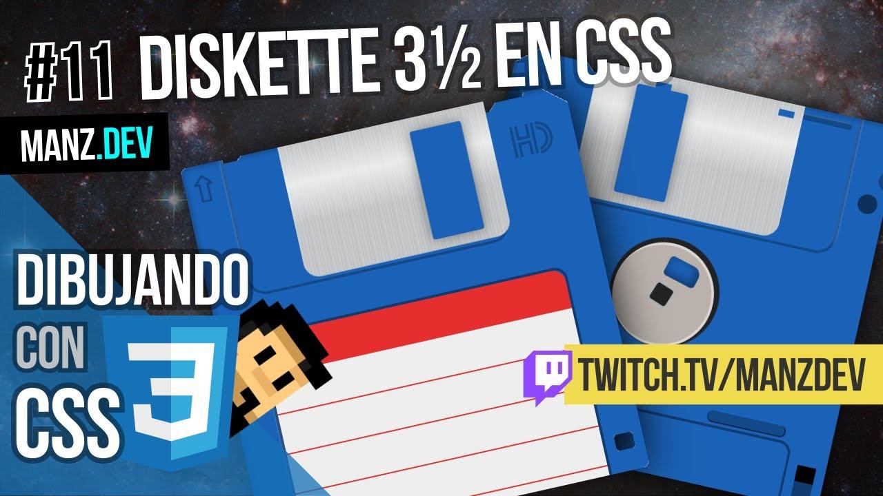 Dibujando un Diskette de 3½ con CSS