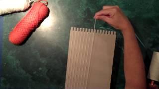 Weaving Part 1- Dressing A Cardboard Loom