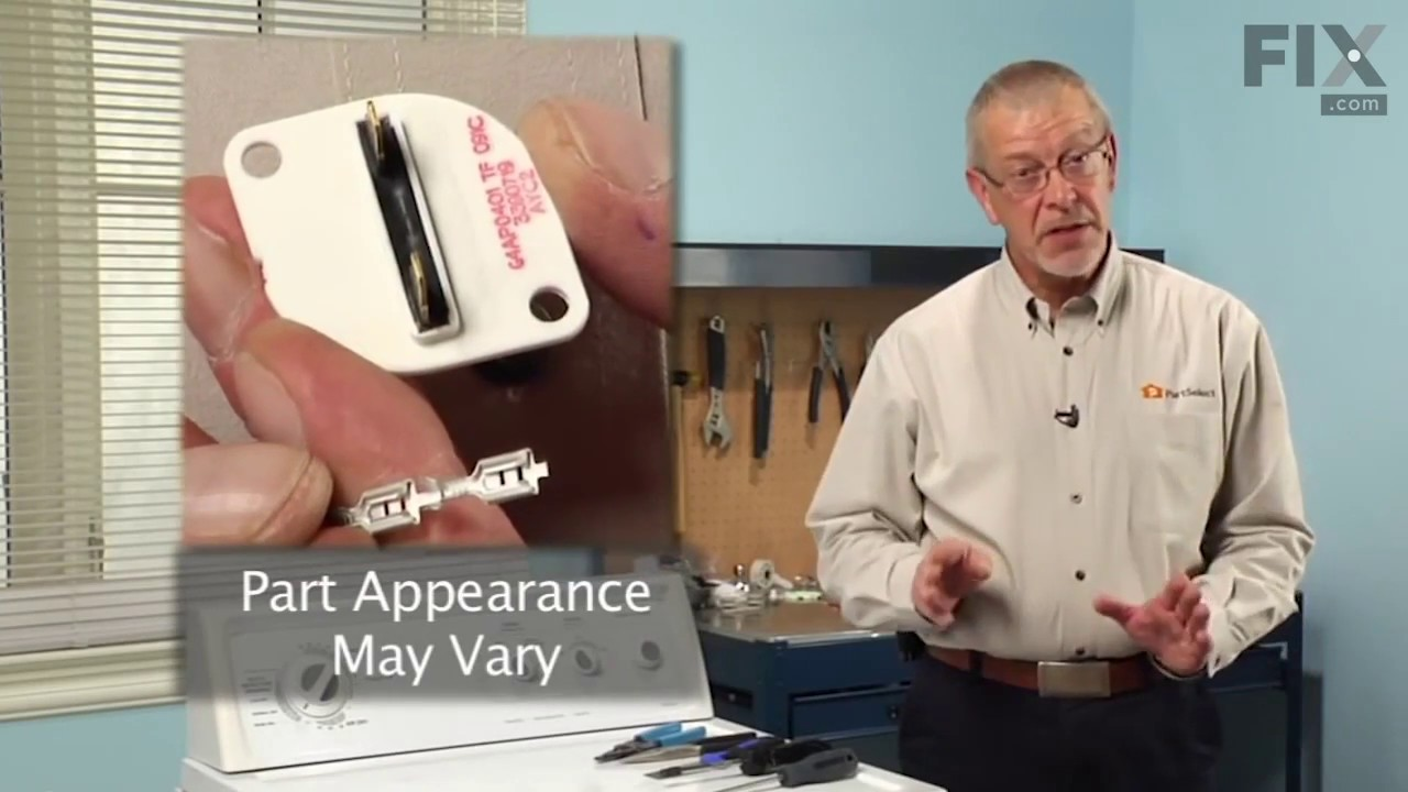 Replacing your Kenmore Dryer Disposable Thermal Fuse - Two Terminal