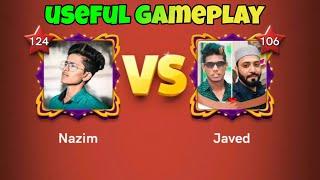 Carrom pool / Javed vs Nazim Singapore game play / useful game play /  Gaming Nazim 🤩