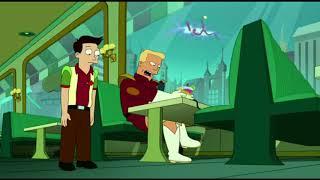 Futurama ITA - Zapp Brannigan attacca la strana Anomalia....