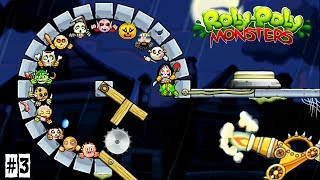 МОНСТРЫ момо вампир игра стиль ЭНГРИ БЕРДС часть 3 / ROLY POLY MONSTERS game kids летсплей для детей