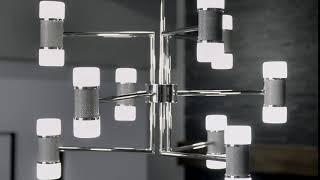 Vey 15 Light 5 Tier Foyer Chandelier Polished Nickel