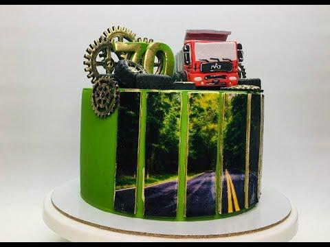 Как оформить торт водителю