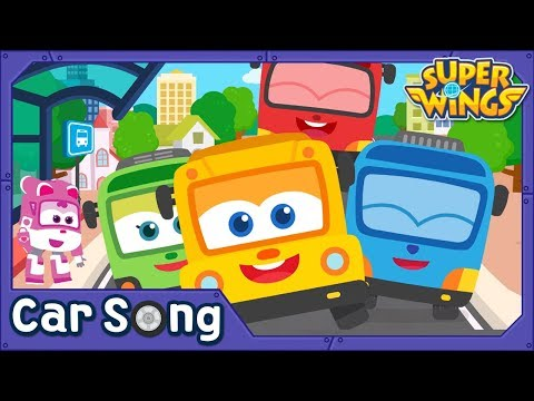 Colorful Bus | English Song | SuperWings Songs for Children