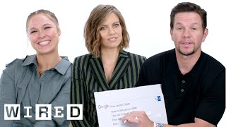 Mark Wahlberg, Ronda Rousey and Lauren Cohan Answer the Web's Most Searched Questions | WIRED