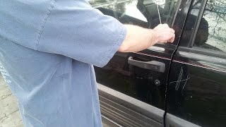 How to unlock your car door with a hanger hack, demonstration