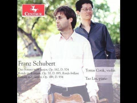 Documentary of a Schubert Recording   -    Tomas Cotik (violin) and Tao Lin (piano)