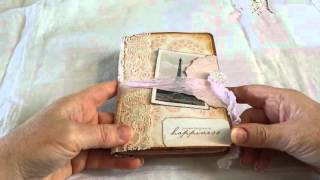 Vintage French Theme Junk Journal And Mini Album