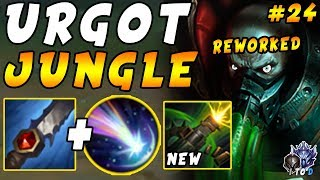 """NEW """"HIGH ELO ABUSED"""" Urgot JUNGLE with Approach Velocity and Chilling   Iron IV to Diamond Ep #24"""