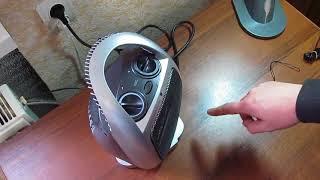 Тепловентилятор поворотный электро обогреватель, Domotec MS 5905 1500 W, электрический дуйчик | от компании Сундук - видео
