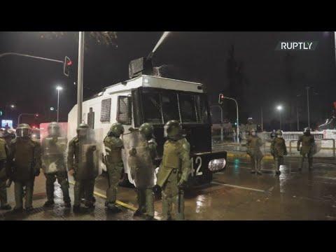 Χιλή: Επείσόδια και χρήση κανονιών νερού σε διαδήλωση για την απελευθέρωση κρατουμένων