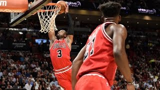 Dwyane Wade: All Dunks Of The 2016-2017 Regular Season (CHI FLASH) PART 1