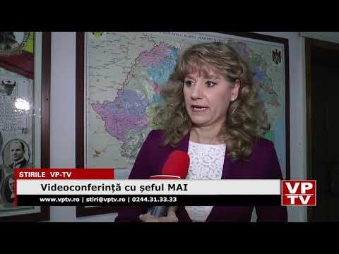 Videoconferință cu șeful MAI