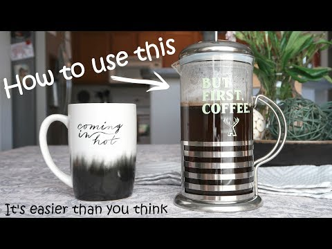How to Use a French Press for Coffee ☕