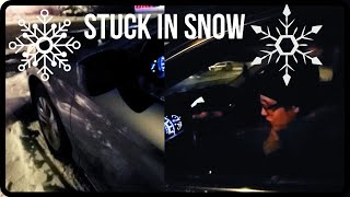 Helping A Pregnant Lady Stuck In The Snow